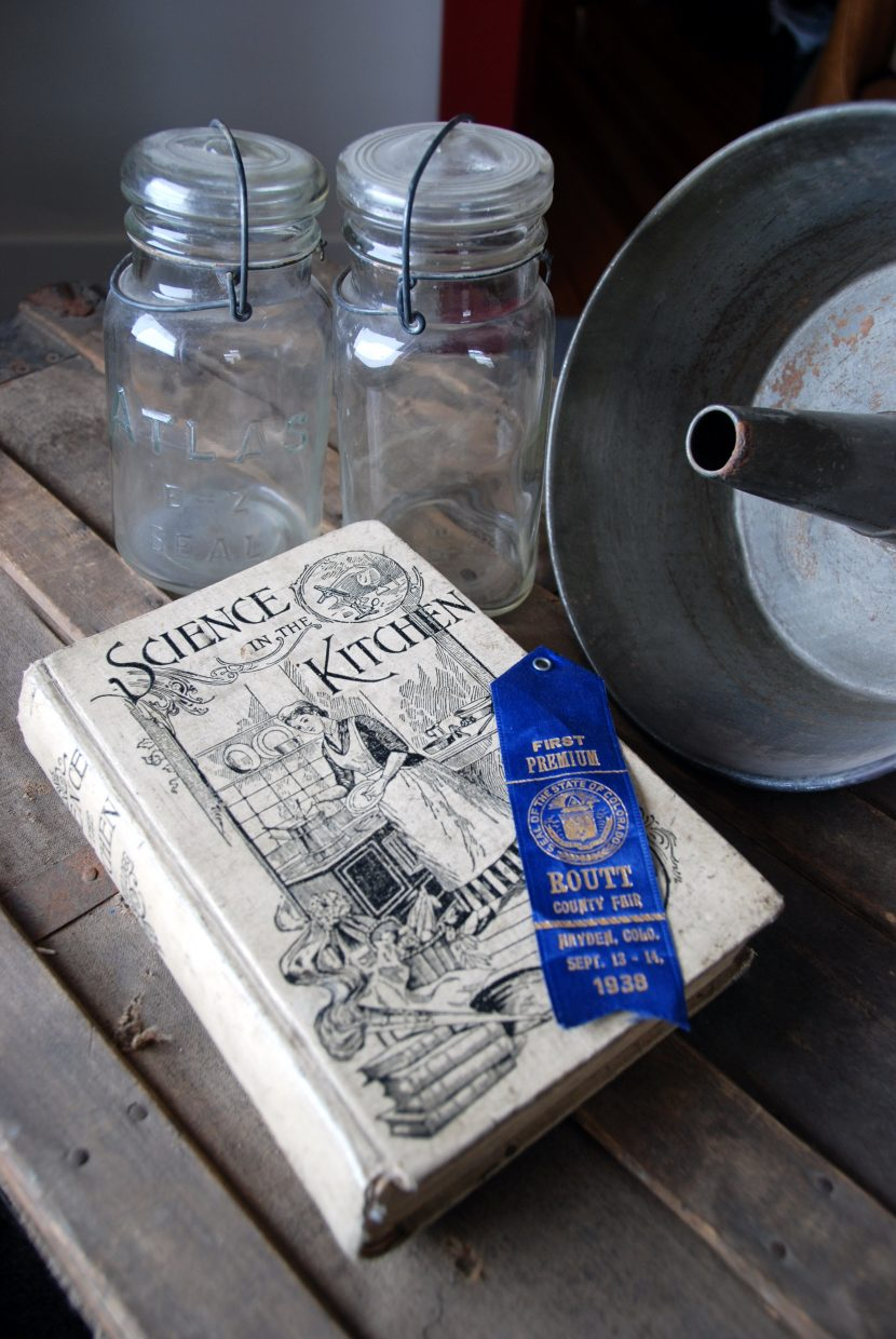 """One of the historical resources used for the """"Fair Family Favorites"""" cookbook, a collection of recipes and memories compiled in celebration of the Routt County Fair's 100th anniversary"""