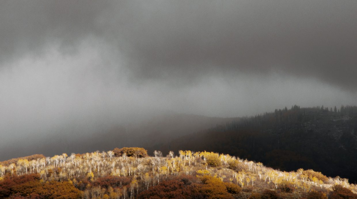 Sunlight on a rainy day in Steamboat. Submitted by: Madison Slater