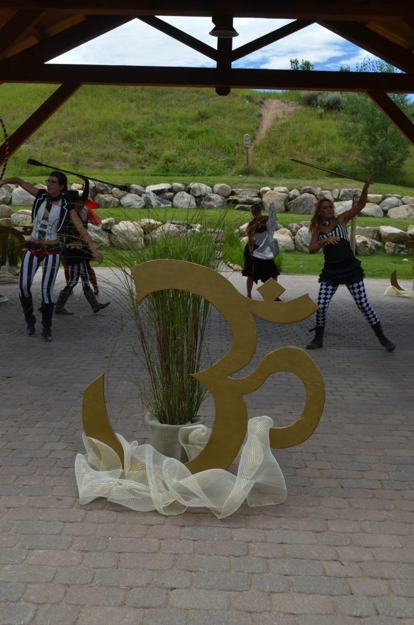 Local performers provided entertainment for the closing ceremonies of the Steamboat Movement Fest this weekend.