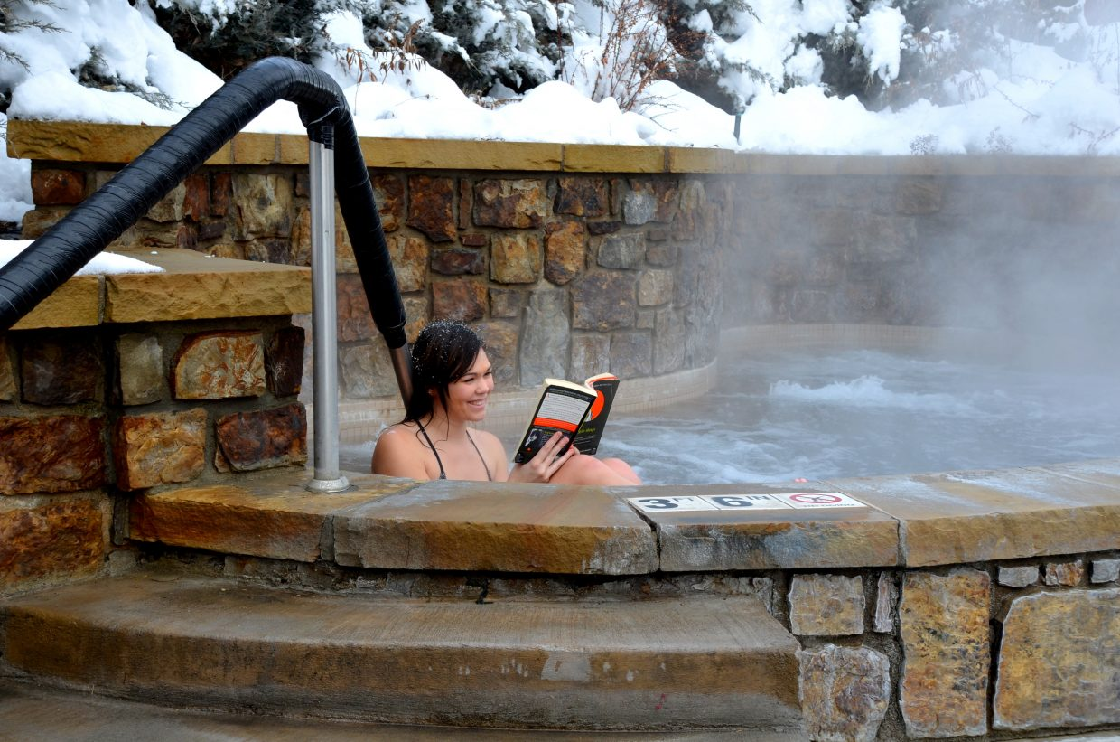 Dani from Denver took time out from the busy hustle and bustle of the Christmas season to read a good book and have a nice relaxing soak at the Old Town Hot Springs. Submitted by: Shannon Lukens