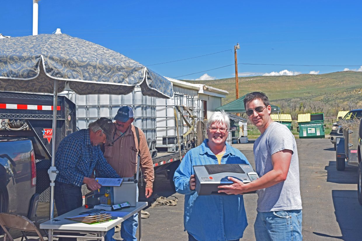 G&S Mountain Recyclers participated in Hayden's Clean-Up Day by recycling electronics. Submitted by David Torgler.