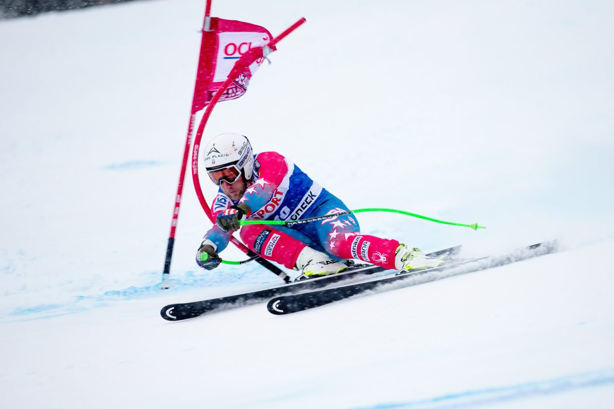 Andrew Weibrecht races earlier this month in the super g at Beaver Creek.