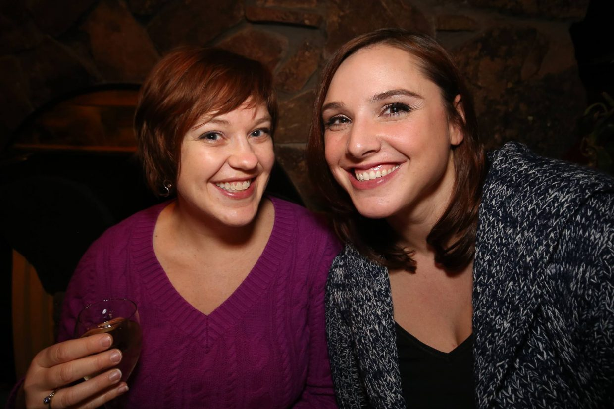 In this photo from left to right: Beth Aiger and Amanda Shipps Barnett.