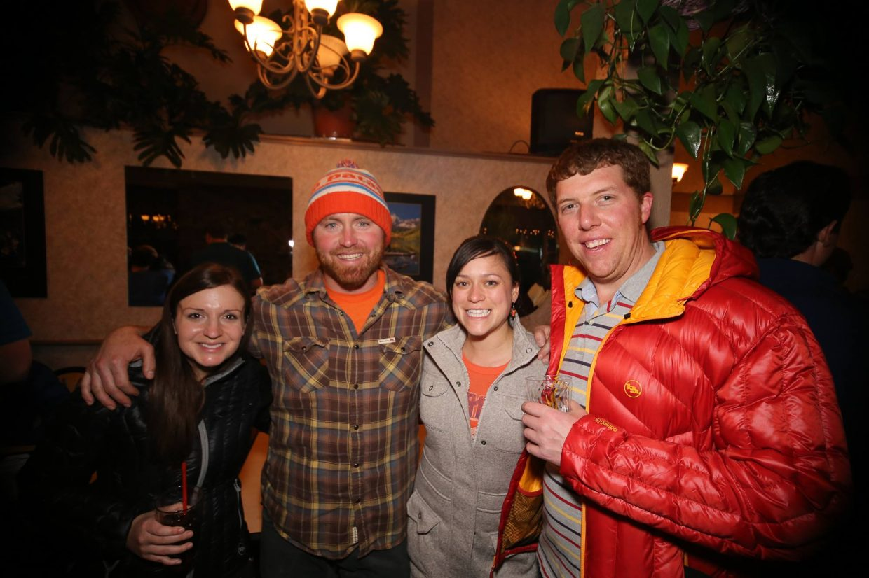 In this photo left to right: Lauren Davies, Chris Cole, Margo Cole, and Craig Malchow.