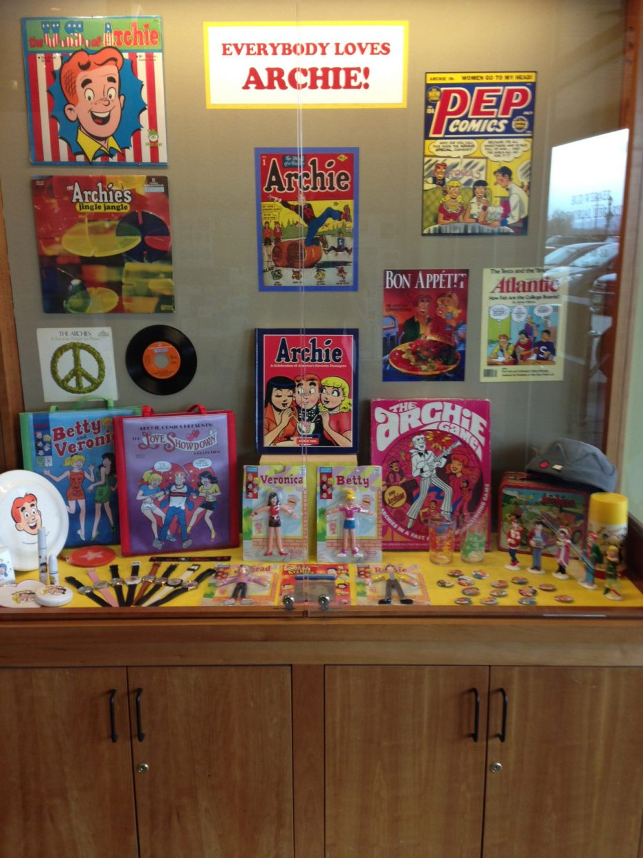 The traveling display of Archie memorabilia by Nancy Silberkleit, co-CEO of Archie Comics, has been in Steamboat Springs for the past three weeks and about 75 items were shown to the community.