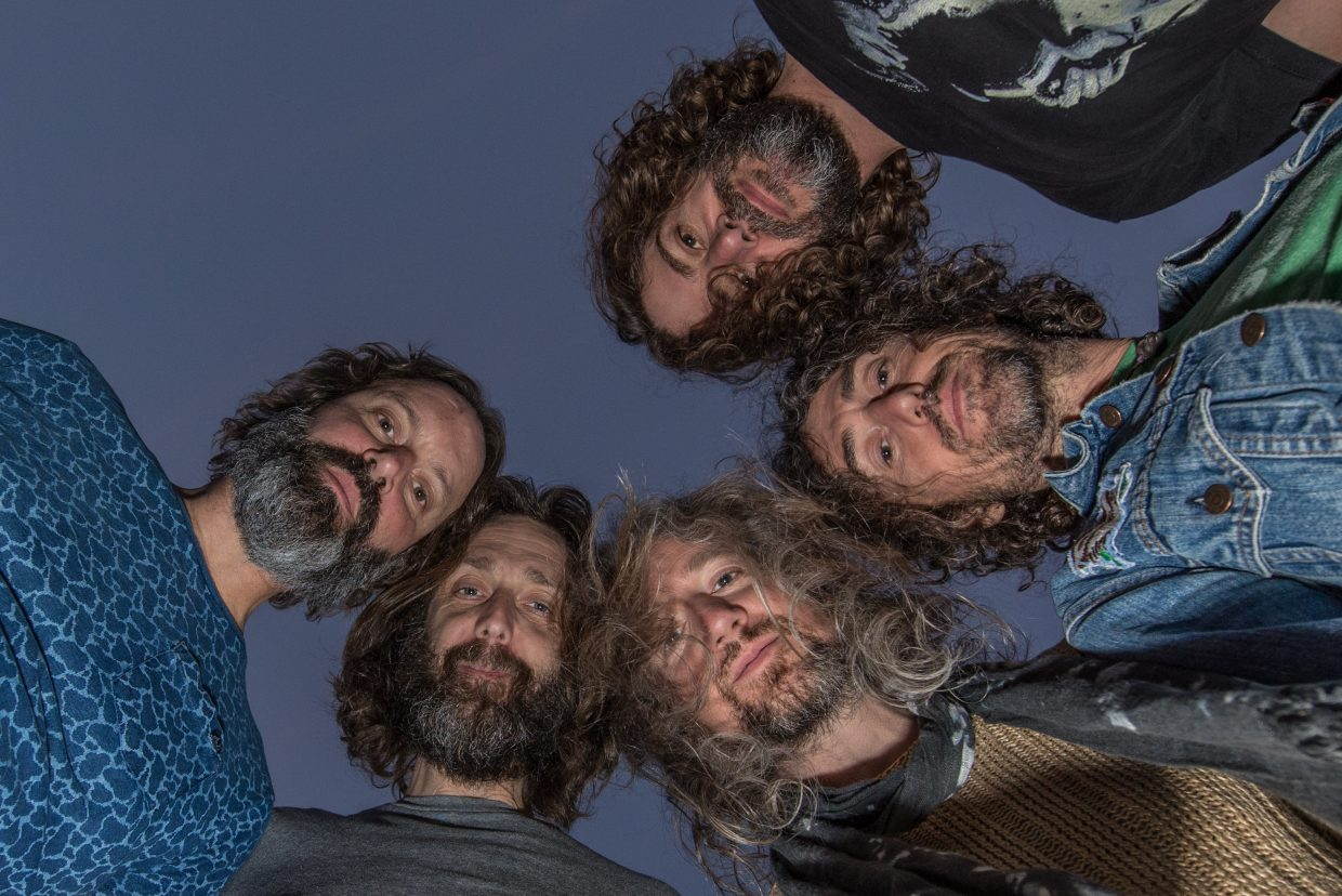 """The Chris Robinson Brotherhood has developed an identity as a self-defined """"farm to table psychedelic rock band"""" comprised of members Chris Robinson on vocals and guitar, Neal Casal on guitar and vocals, Adam Macdougall on keys, Tony Leone on drums and Mark Dutton on bass."""