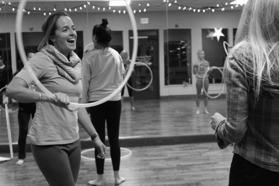 In this photo: Laraine Martin grinning at a Dance Theatre practice