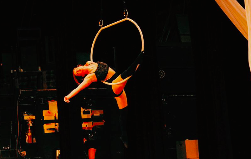 In this photo: Nikki Inglis practicing aerial dance