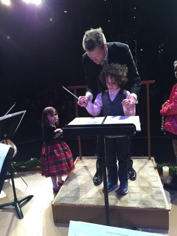 At the Christmas Spectacular concert at Strings Music Pavilion Saturday and Sunday, music director Ernest Richardson led the Steamboat Springs Symphony Orchestra and the youth orchestra in performances to kick off the holiday season.