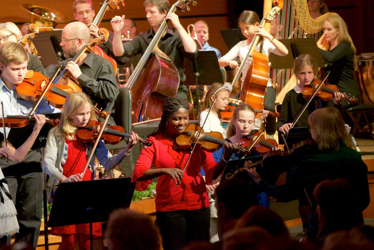 At the Christmas Spectacular event last week, Ernest Richardson led the Steamboat Symphony Orchestra and the youth orchestra to kick off the holiday season