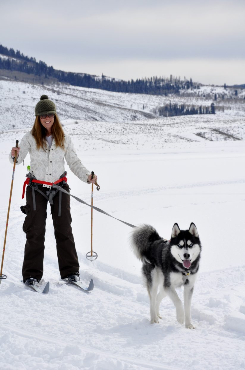 Kim Beaulieu and her dog Oakley