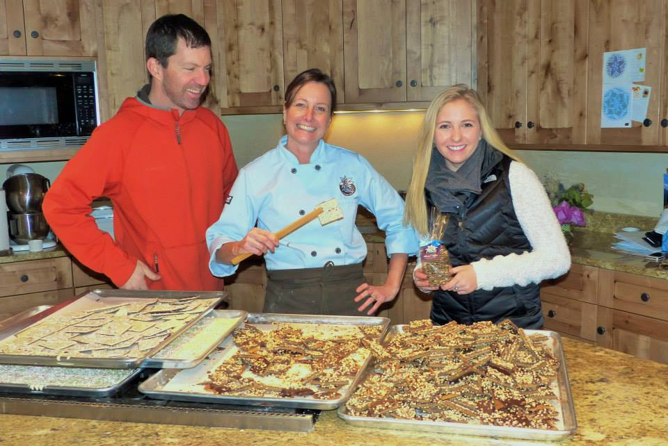 At last weekend's Chocolate Tasting event for Small Business Saturday business owners got together to offer sweet treats to shoppers. In this photo: Steve Kennedy, Daniela Kennedy, and Danielle Flax at The Homesteader