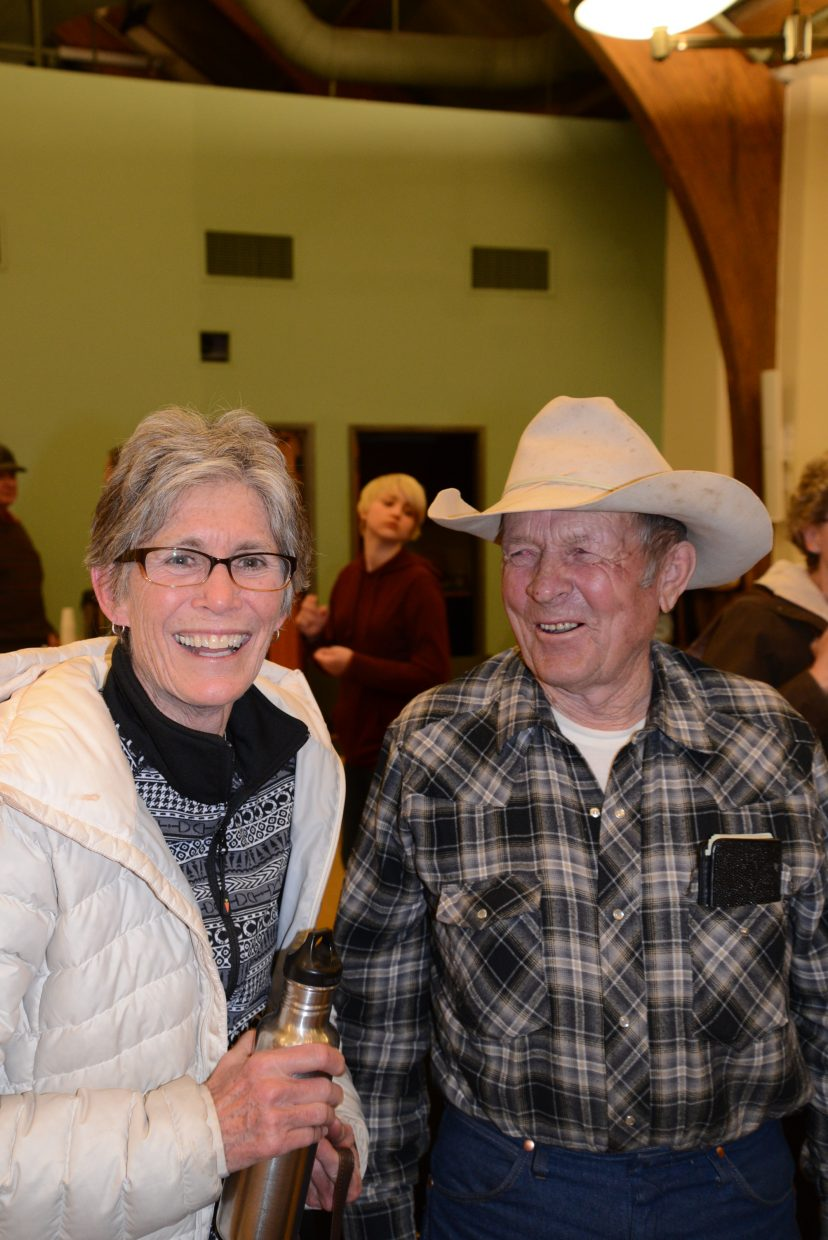 In this photo: Jane Howell and Orval Bedell