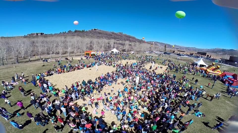 A bird's eye view of last weekend's Easter Eggstravaganza event.