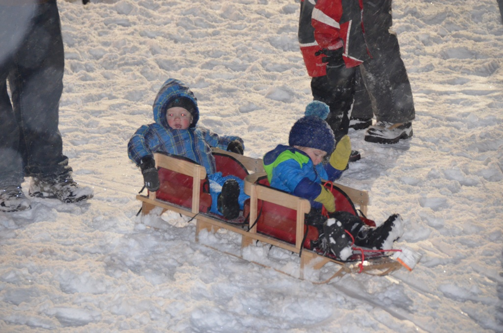 Friends and family gathered at Howelsen Hill to take part in tubing, hot cocoa, a visit from Santa and holiday cheer, which was part of Sunday's Community Holiday Party, hosted by the Rotary Club of Steamboat Springs.