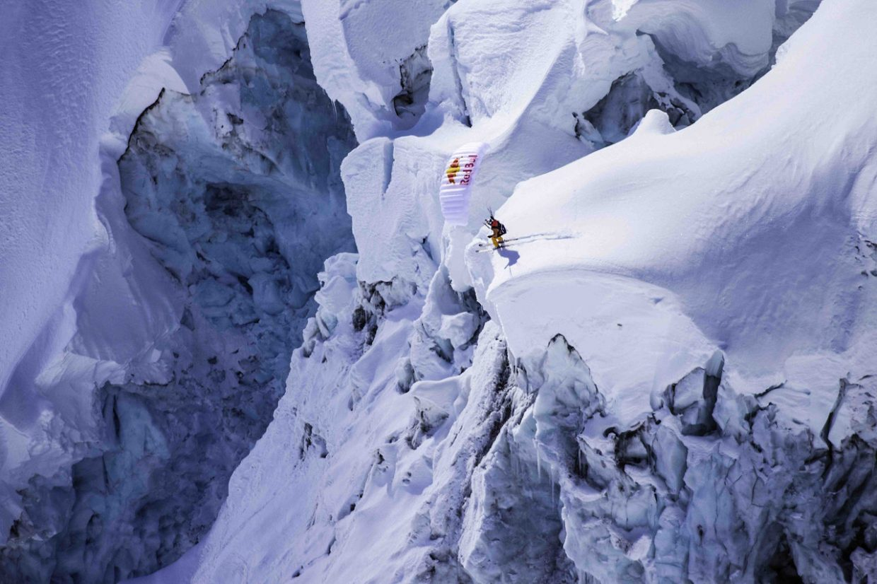"From the Banff Mountain Film Festival's Radical Reels Tour, this photo is from the short clip titled, ""The Unrideables:Alaska Range (Special Edit). The photo is of John Devore and was taken by Scott Serfas from the Red Bull Content Pool (c)."