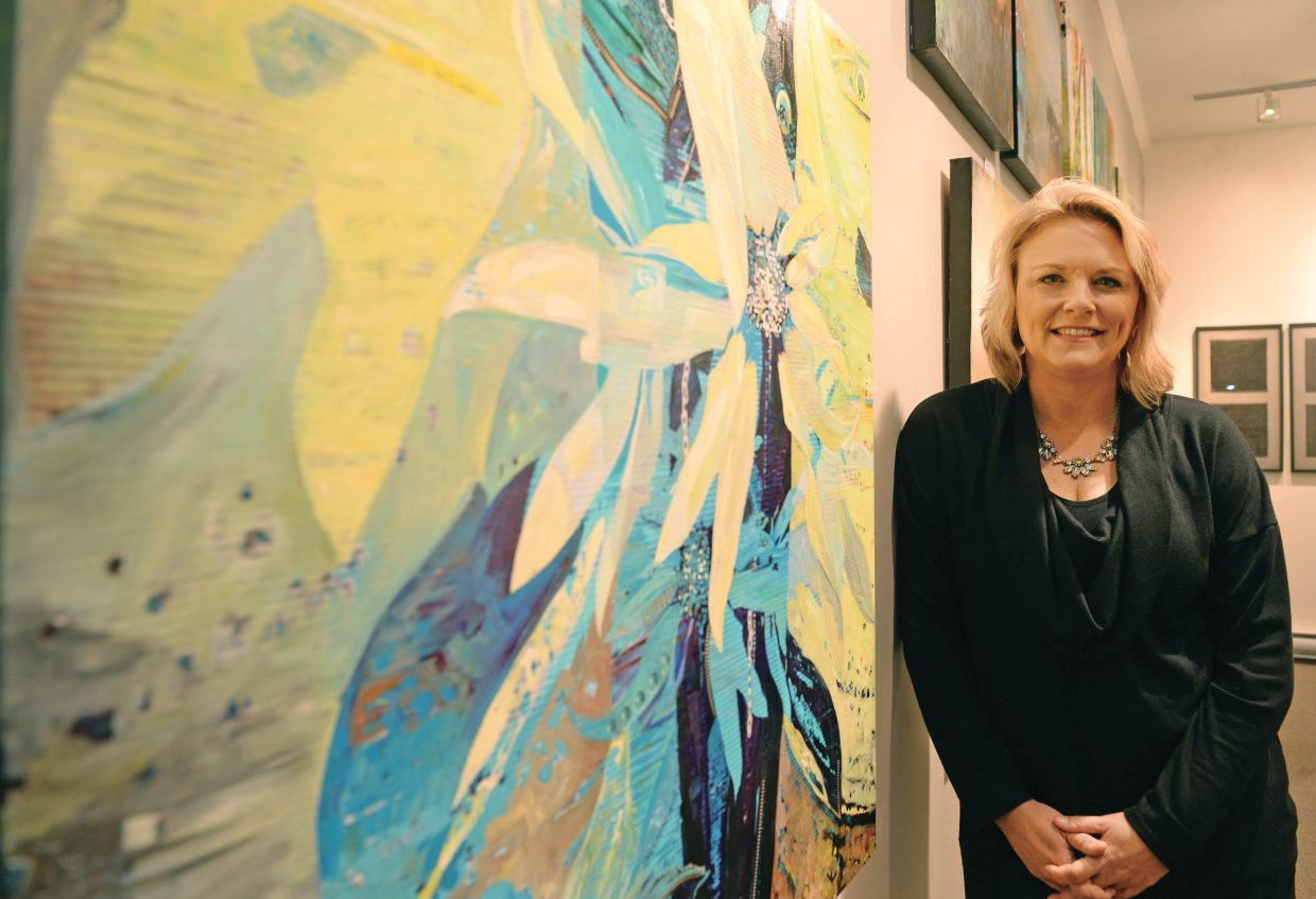Local painter Michelle Ideus, left) and Rachel Hirning will have their work featured at the Center for Visual Arts this month, with the show opening for First Friday Artwalk.