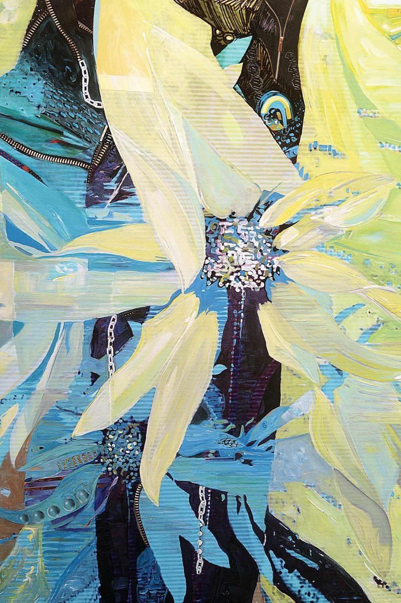 Local painter Michelle Ideus will have her work featured at the Center for Visual Arts during the First Friday Artwalk,