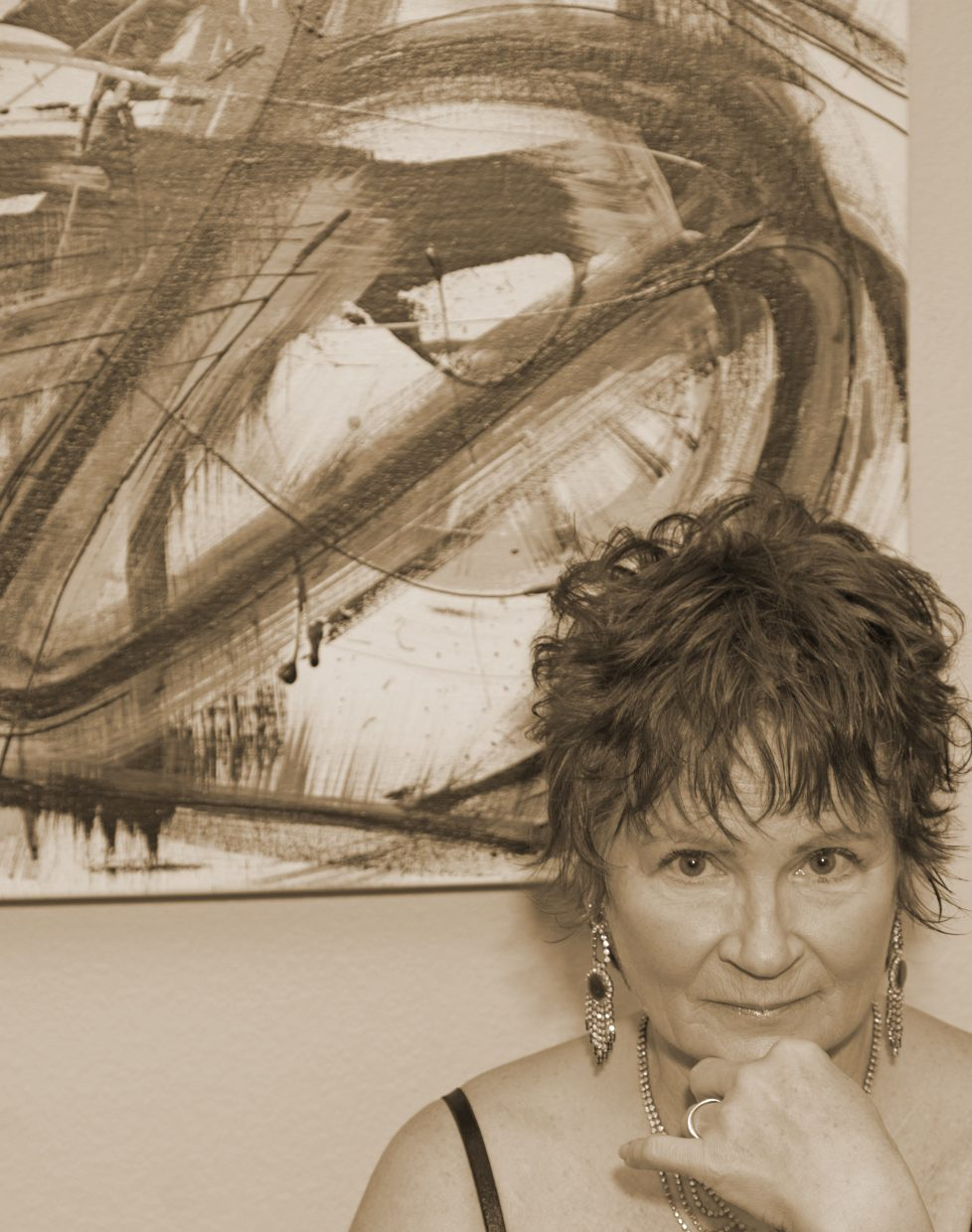 Local abstract artist Jan Maret Willman will have her work featured at the Chief Theater and Harwigs for the First Friday Artwalk this month.