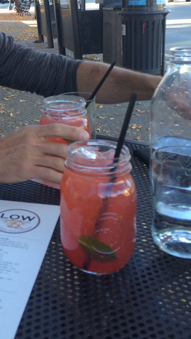 LOW Country Kitchen's popular Raspberry Smash drink.