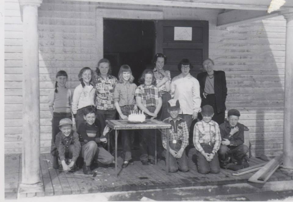 Jo Semotan remembers having dances and community events at the Moonhill Schoolhouse when she was growing up in North Routt. Her is a photo from her 10th birthday party and Moonhill friends, plus her sister Jan.