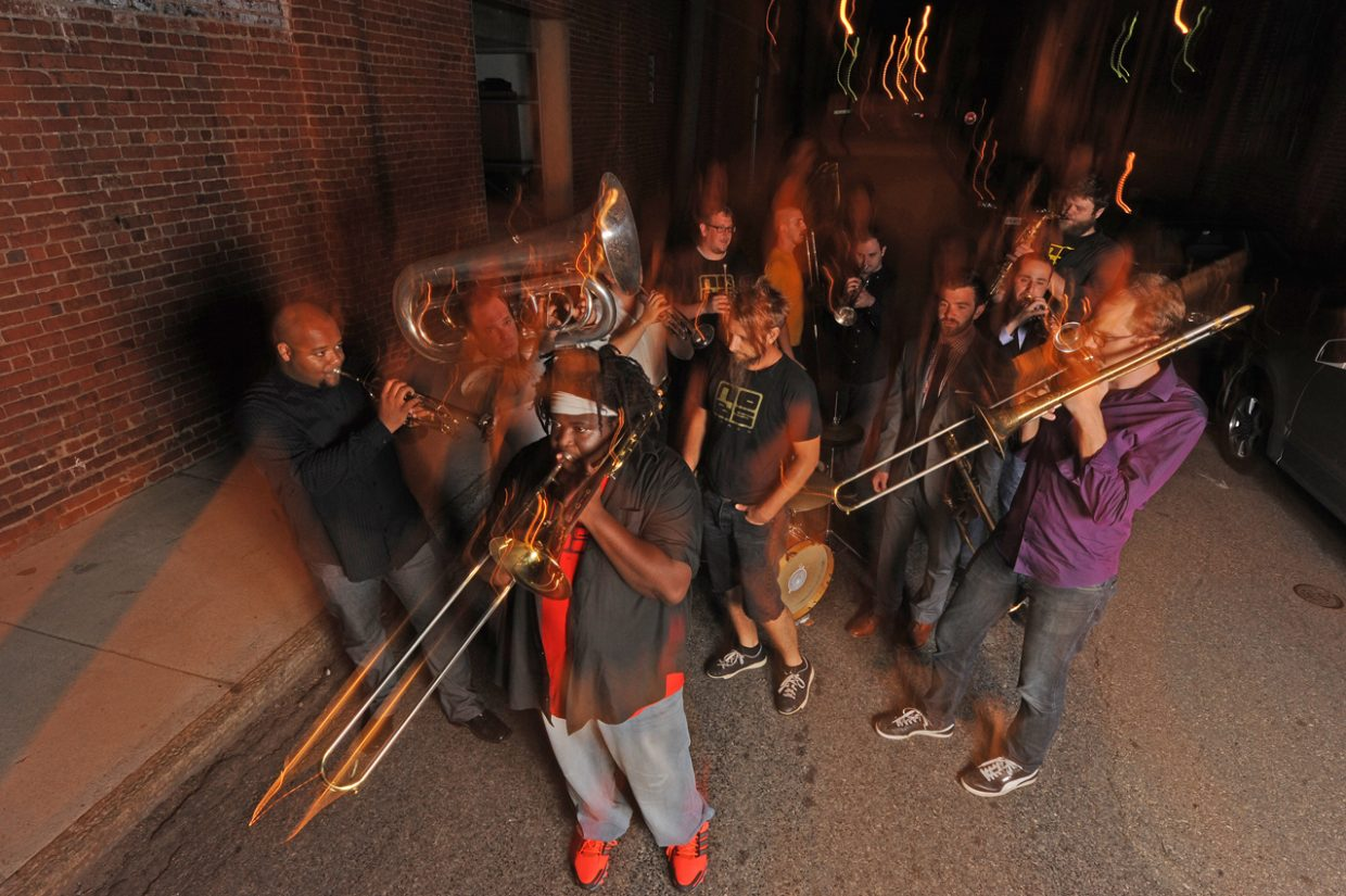"""Coming all the way from the East Coast, the 11-piece No BS! Brass Band will bring a New Orleans """"Richmond sound"""" to Steamboat Springs this weekend for the annual Mardi Gras Festival."""