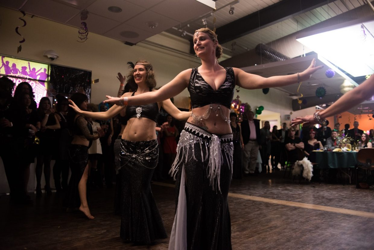 In this photo: members of the Jasmir Bellydance Troupe