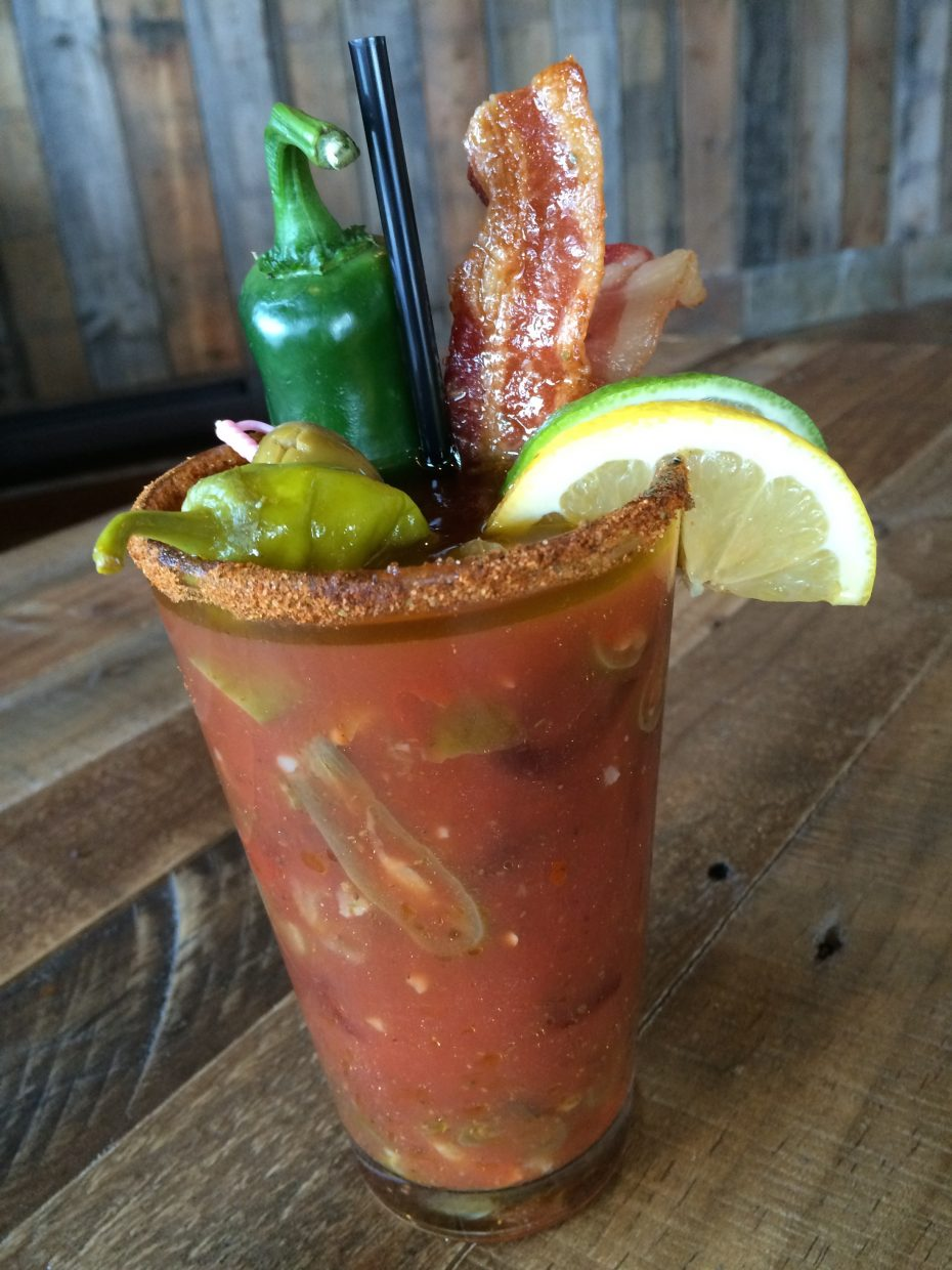 Rex's American Bar & Grill makes a well known Burnin' Bacon Bloody.