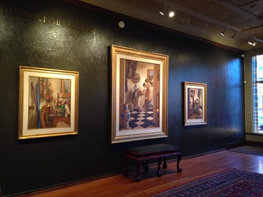 A few of the paintings from the Mark Thompson exhibit at the Steamboat Art Museum were hung earlier this week for the opening of the winter exhibit Friday. Thompson specializes in egg tempera and etching.