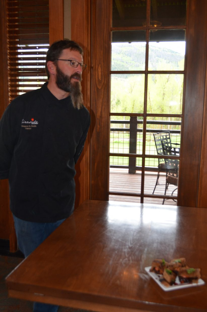 "Chef Greg Smith from Fireside Catering will be preparing The Chocolate BMT with Port Wine Sauce inspired by the Thin Mint cookie at the ""Cocktails and Cookie Creations""Girl Scout fundraiser next Thursday."