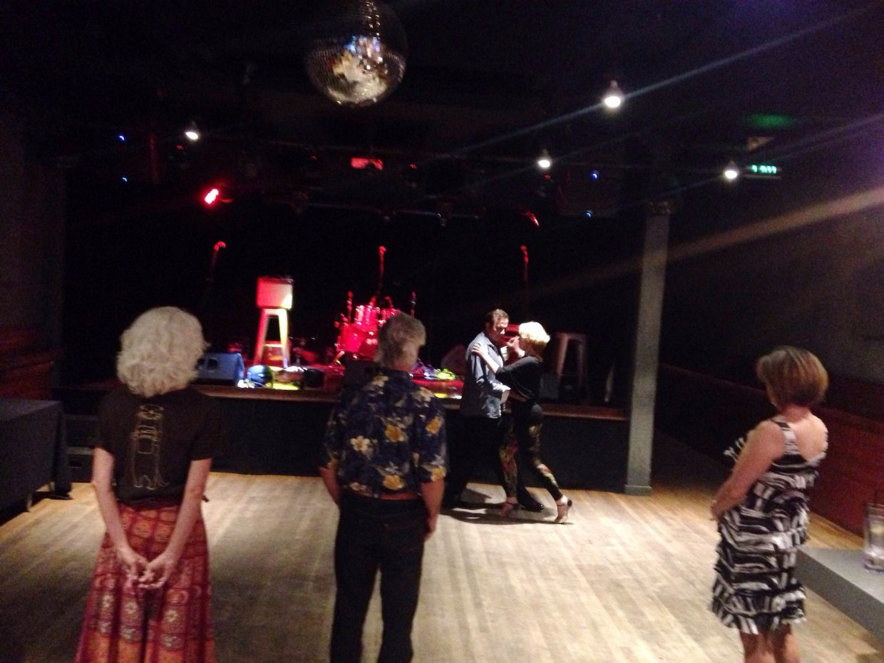 On Monday night Susan Ring and internationally renown instructor Pedro Amarfil demonstrate the tango for the class.