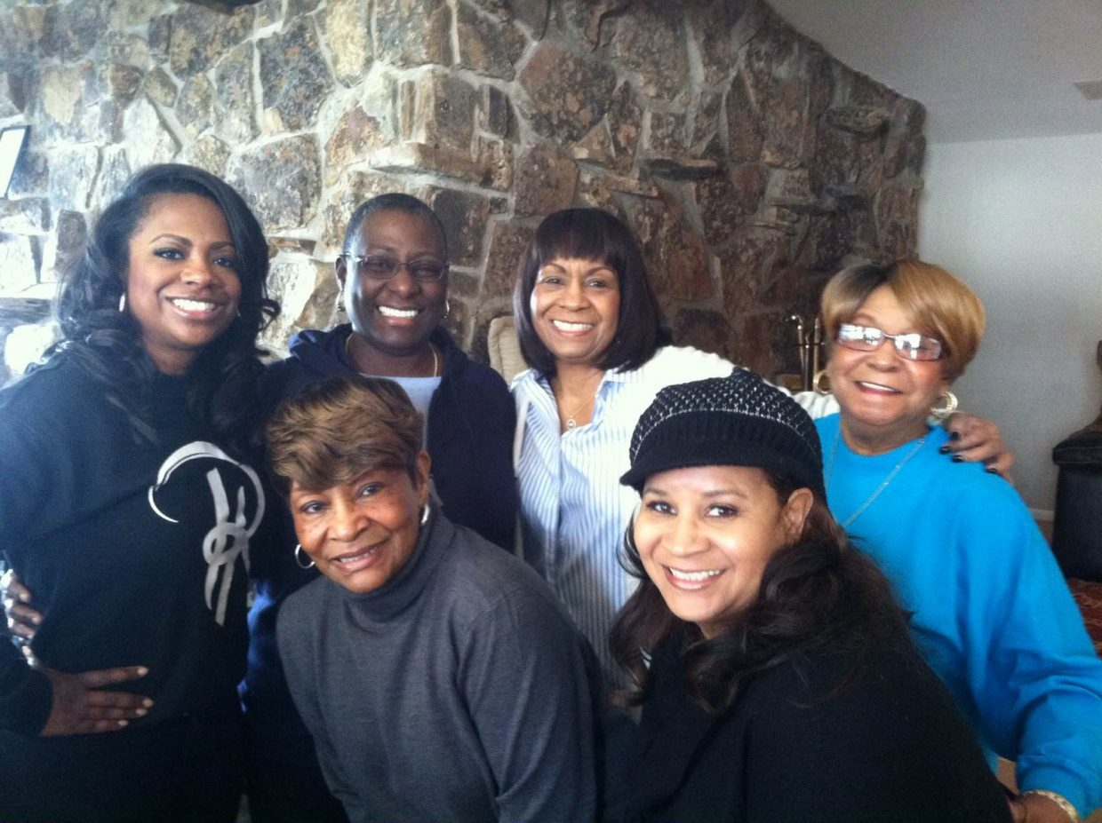"Kandi Burruss, one of the stars of Bravo's ""The Real Housewives of Atlanta,"" and her new husband, Todd Tucker, bring their families together in Steamboat Springs for a three-episode special, ""Kandi's Ski Trip."" This is a picture of Burruss with all of the women in her family and Tucker's."