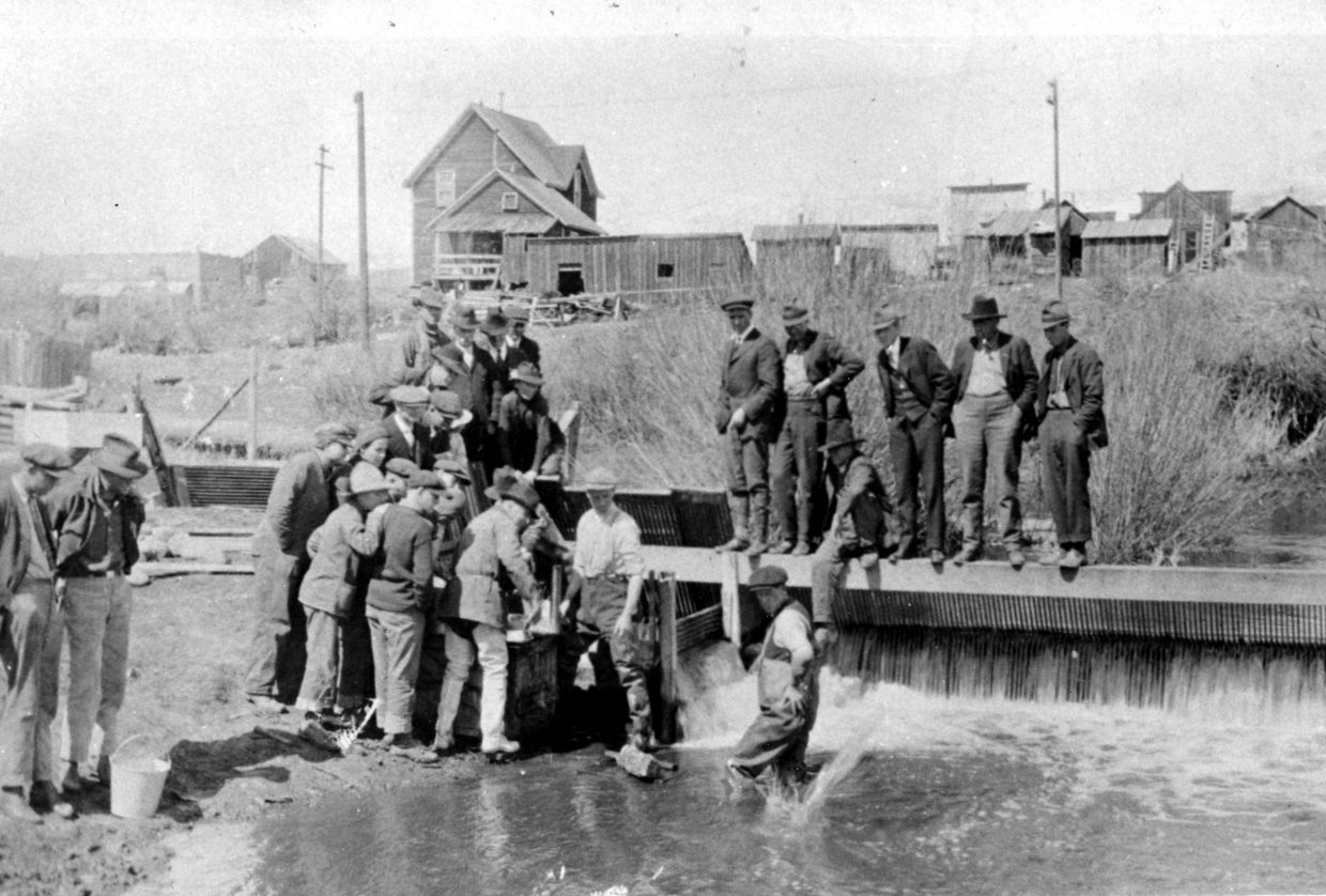 "Miners from the Arrowhead Mine hard at work. This mine is no longer in operation but can be seen on the ""Ghost Mine Driving Tour"" to Oak Creek hosted by the Tread of Pioneers Museum and Jim Stanko. The tour is part of the Brown Bag Lecture Series and will take place on July 10 from 9 a.m. to noon."