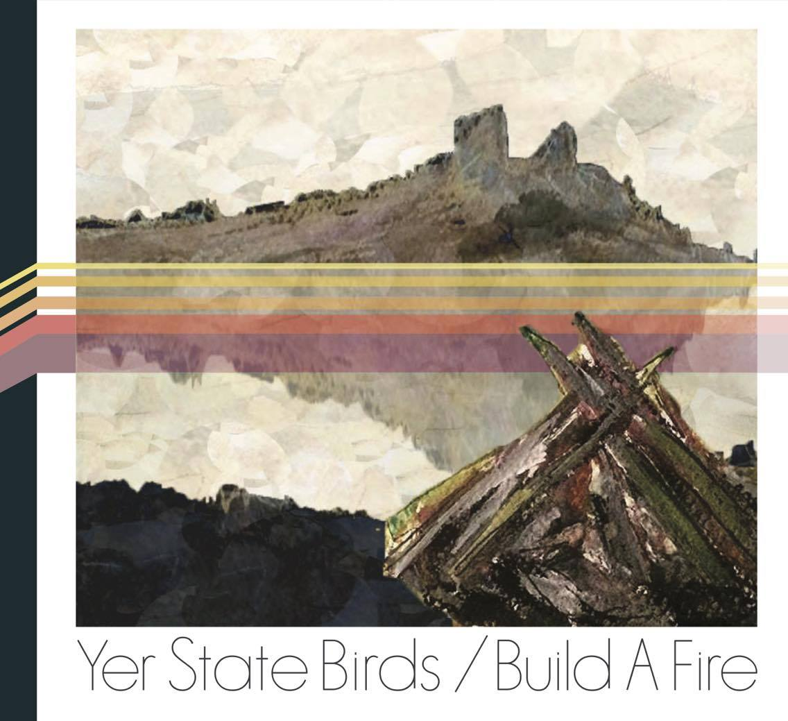 "Yer State Bird's debut album, ""Build A Fire,"" features nine original tracks showcasing the local band's Southern ""dirty blues rock"" sound. The cover art was created by local artists Kathleen Schlabach and Rob Royall and band member J.R. Adams."