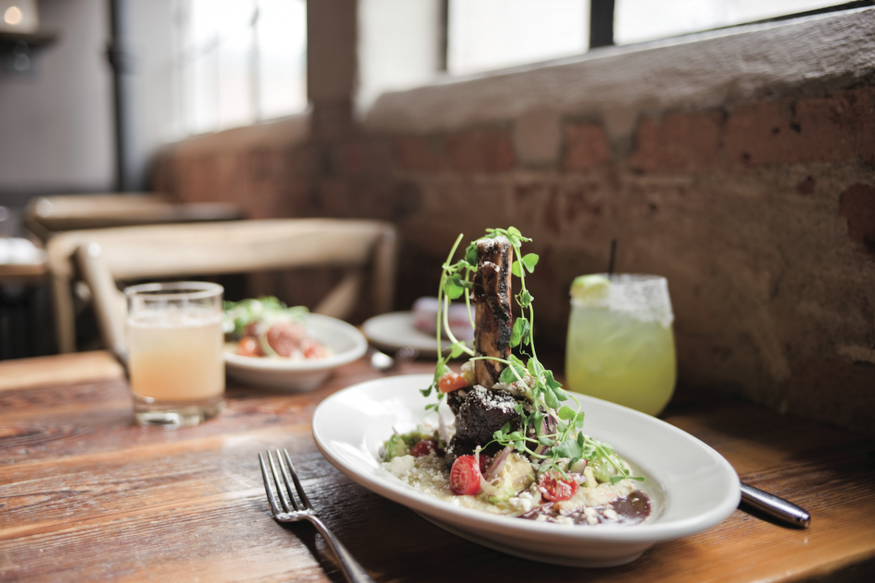 Located in the historic Soda Creek building downtown, the Laundry offers casual elegant dining, blending rustic charm