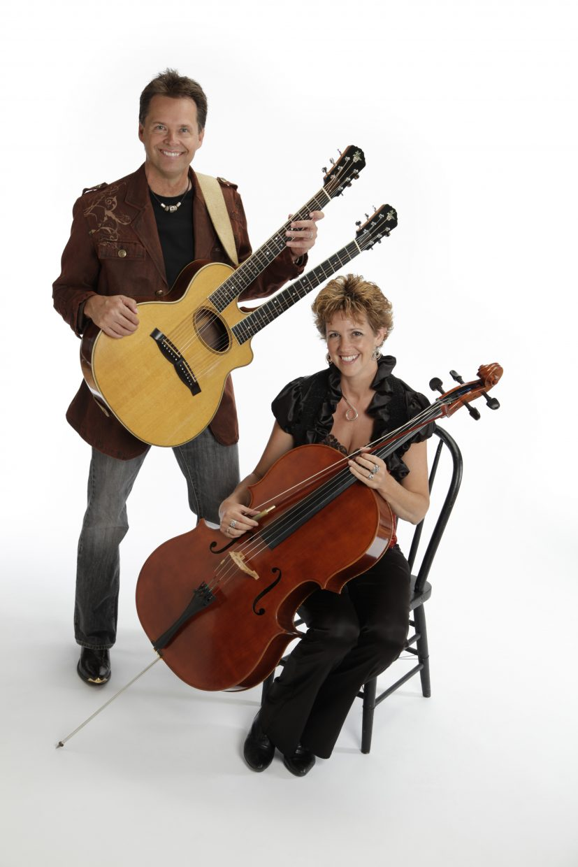 Duo Joe Scott and Hannah Alkire are known for their roles in Acoustic Eidolon playing the cello and a double-necked guitjo. The duo will be at the Chief Theater tonight at 7 p.m.