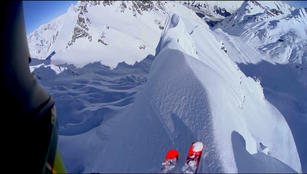 """In the annual Steamboat Mountain Film Festival, one of this year's featured films """"Heimer"""" pictures a skier getting ready to drop in on a big line in Haines, Alaska."""