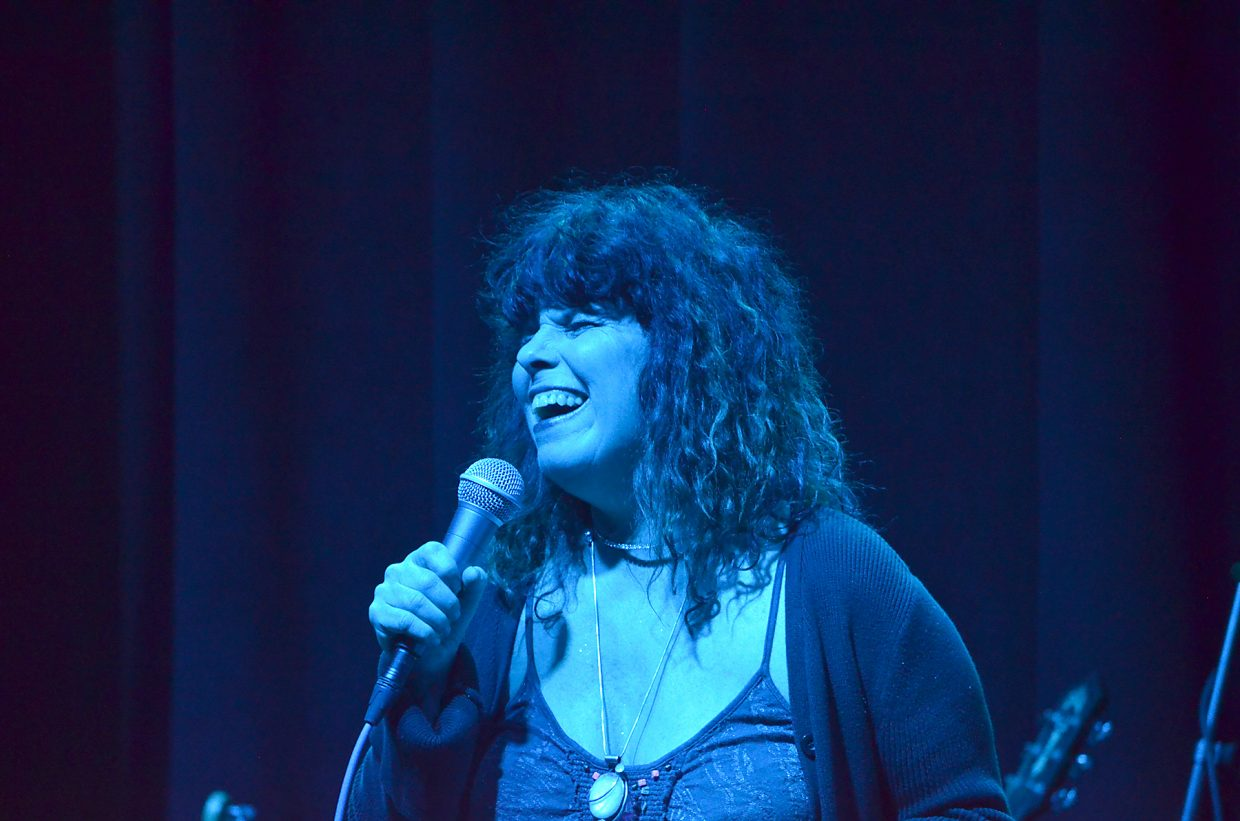 Laura Lamun, of the Easy Peaces, performs at the Chief Theater