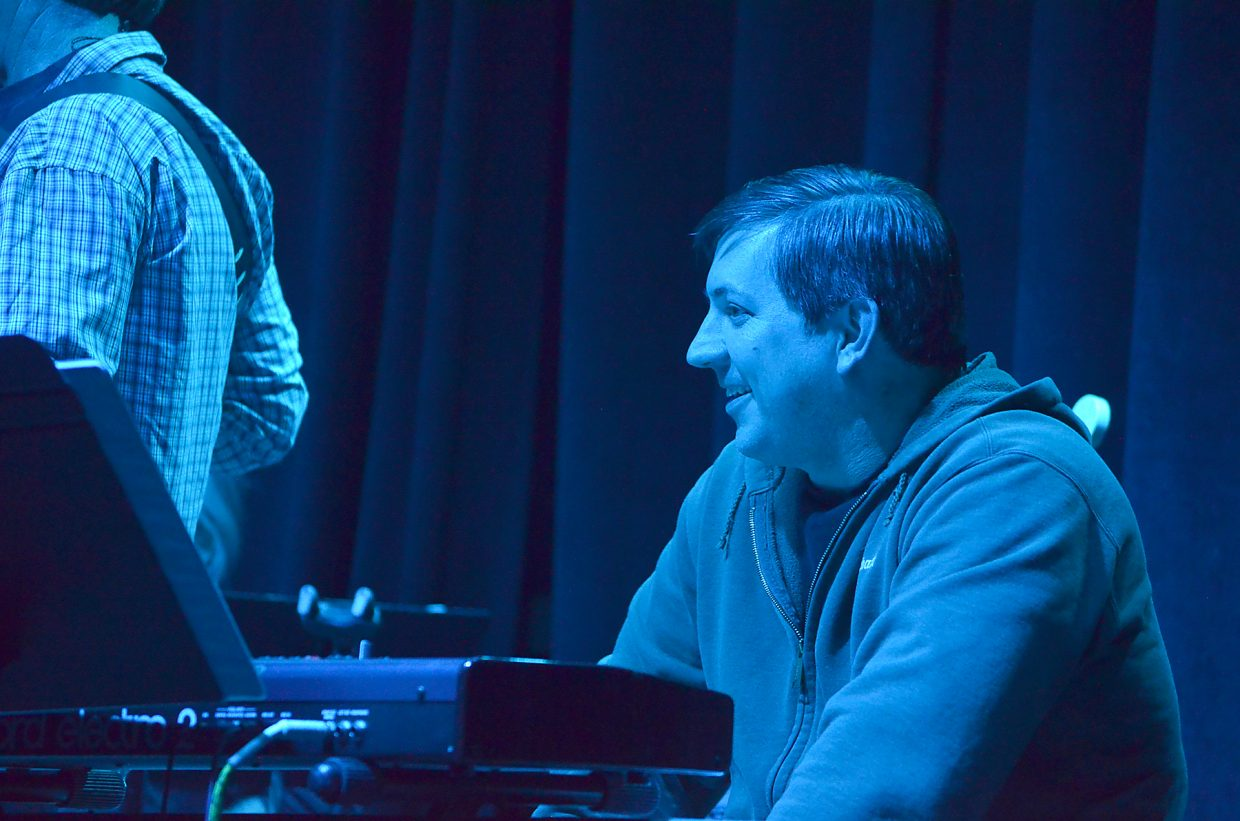 Keyboardist Kevin Williams during a show at the Chief Theater.