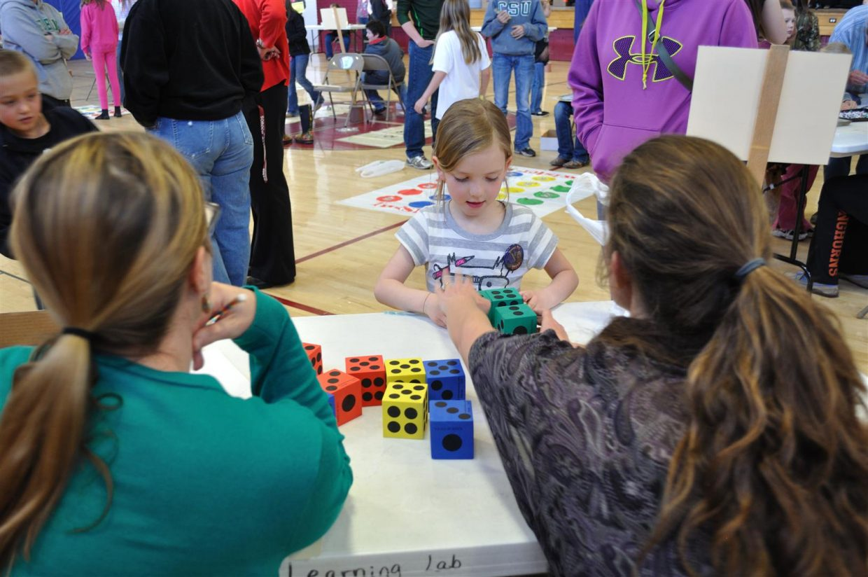 Alyvia Cox at the Literacy Carnival at South Routt Elementary School. Submitted by: Audrey Walker