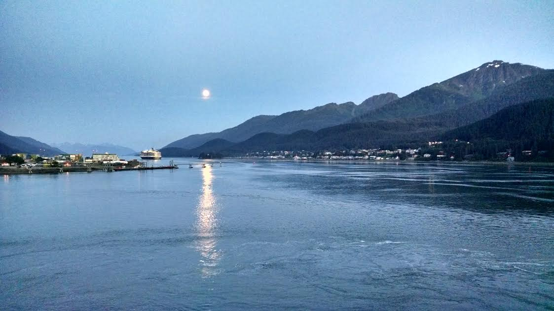Full moon over Juneau, Alaska. Submitted by Elizabeth Miller.