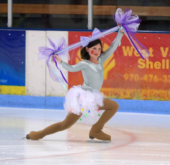 Ellie Brown enjoys skating during last year's Halloween Skate-A-Thon and Costume Party sponsored by the Steamboat Springs Figure Skating Club.