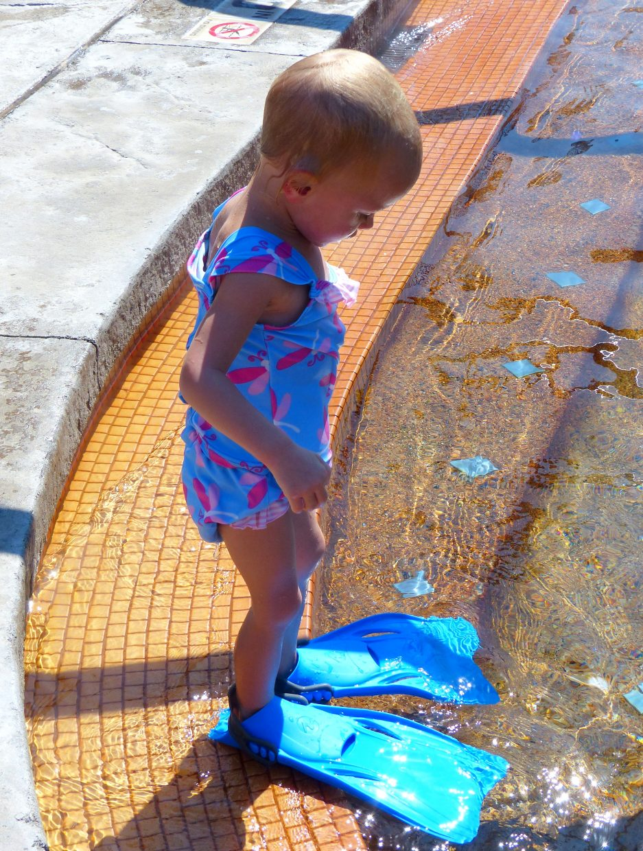 Emma loves her flippers. Submitted by: Shannon Lukens