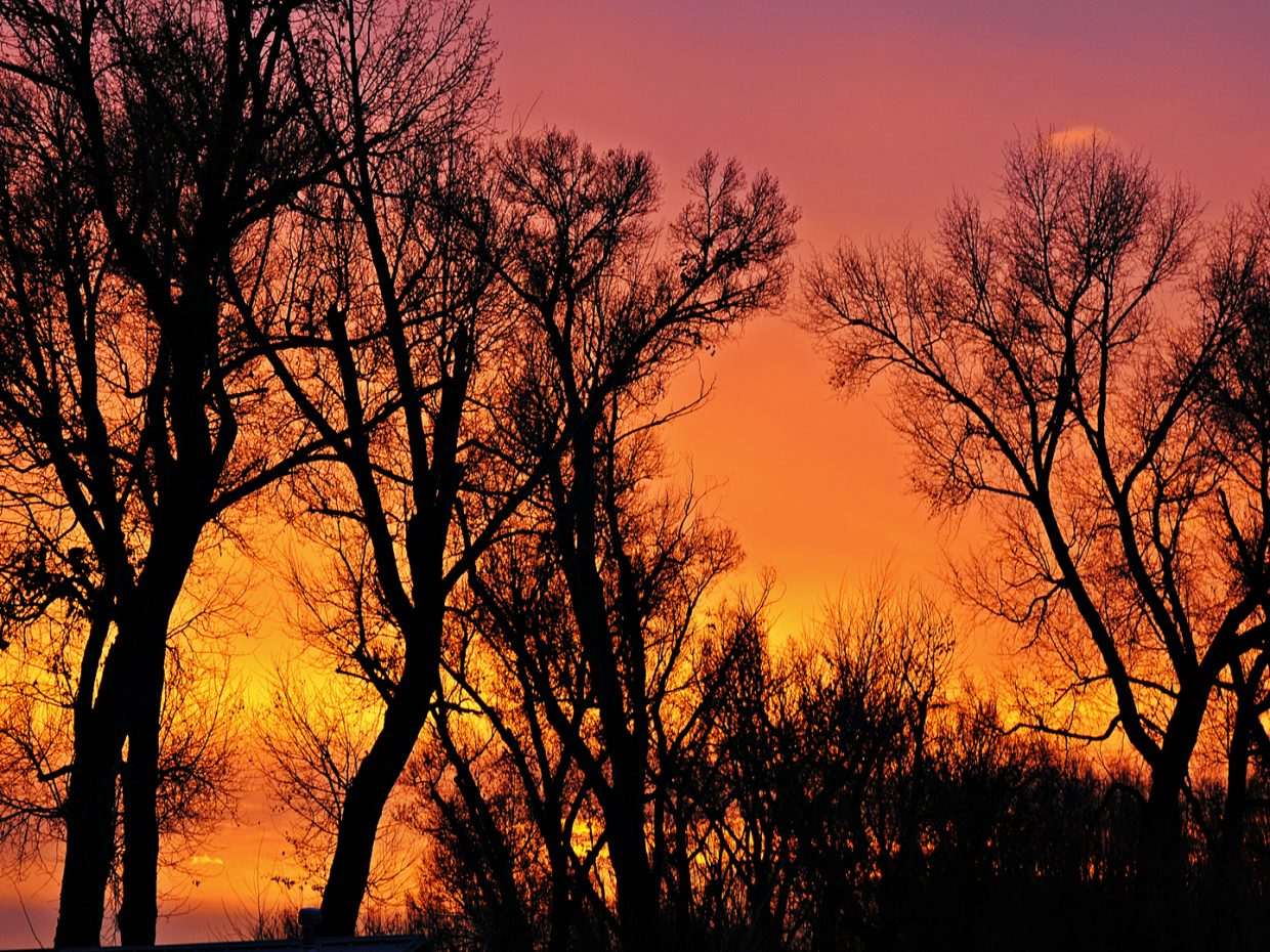 Evening glow. Submitted by: Jeff Hall