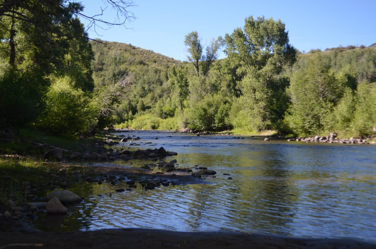 A view of the Little Snake River.