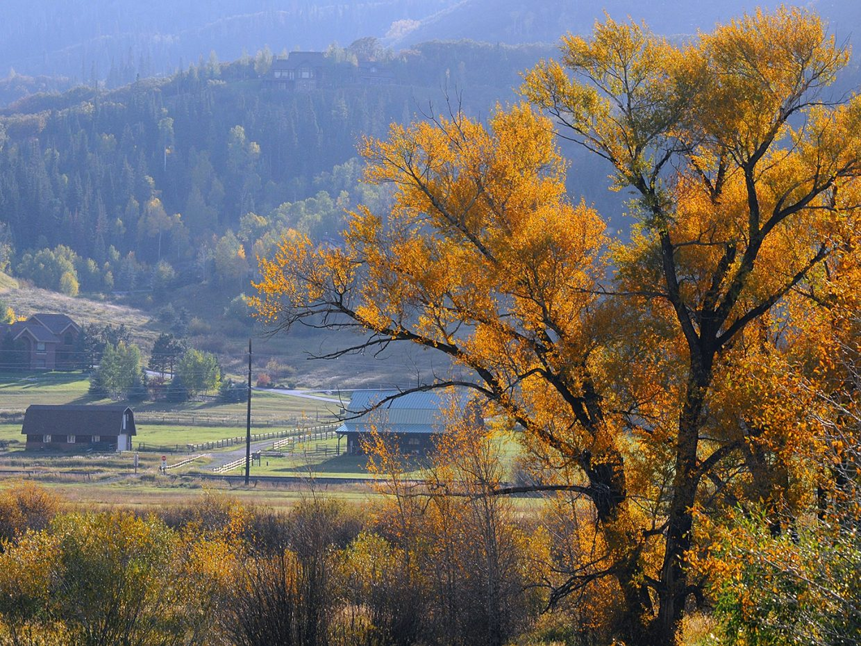 Fall colors and barns, River Road. Submitted by: Jeff Hall