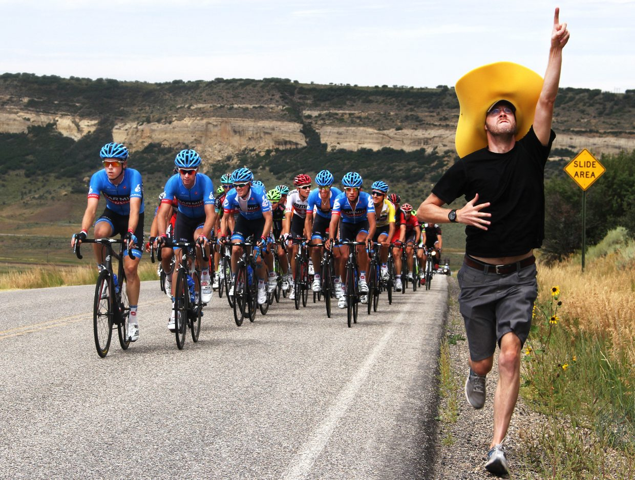 It's OK to get excited while cheering on the Pro Challenge, but don't get in the way.