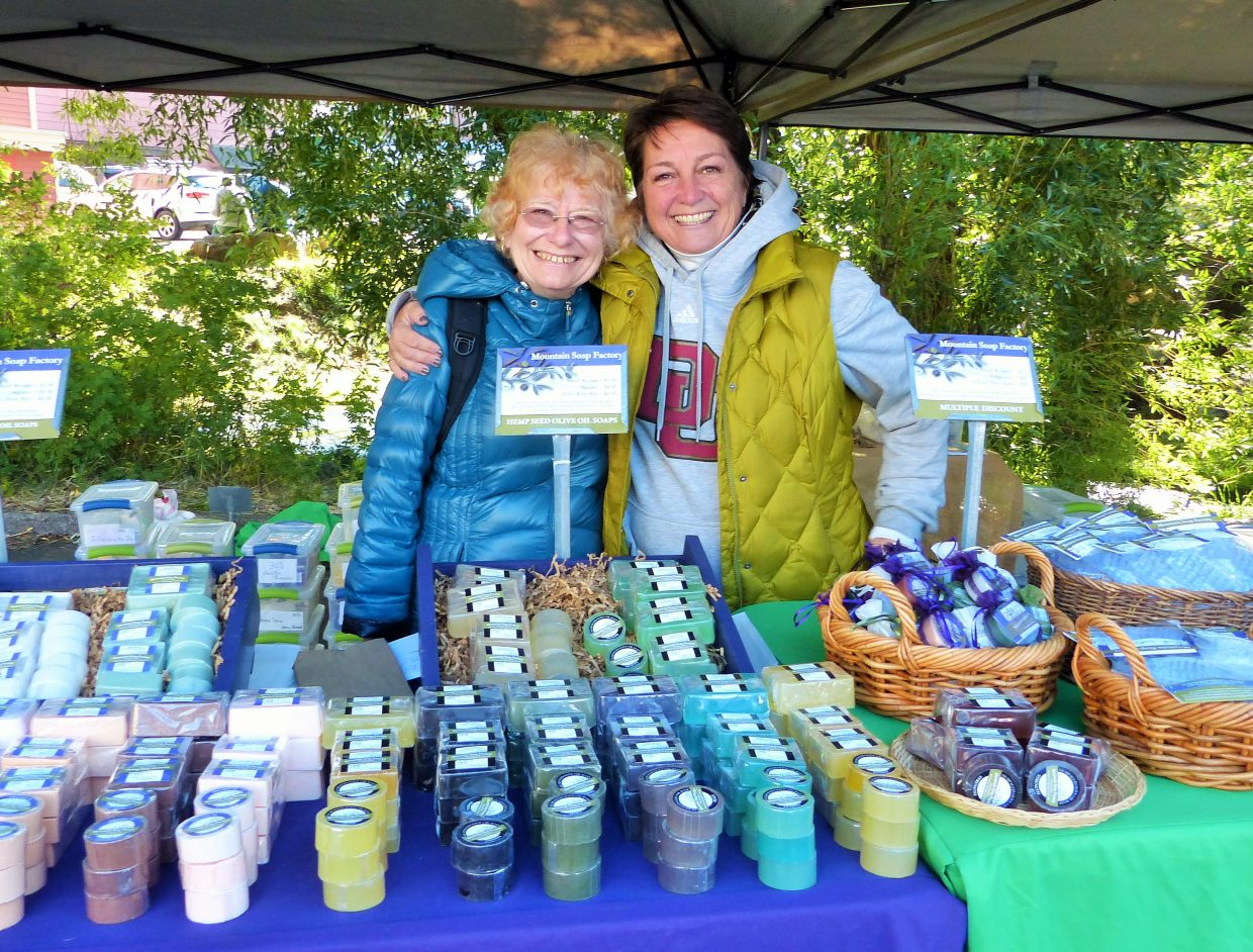 Rusty DeLucia and Joanne Churchill sell soaps for Mountain Soap Factory. Submitted by Shannon Lukens.