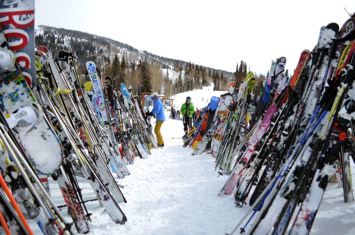 It was not your typical Monday. With many off work and school out for the week, Presidents Day brought hordes of skiers and riders to Steamboat Ski Area, making it look like a weekend afternoon on the slopes.