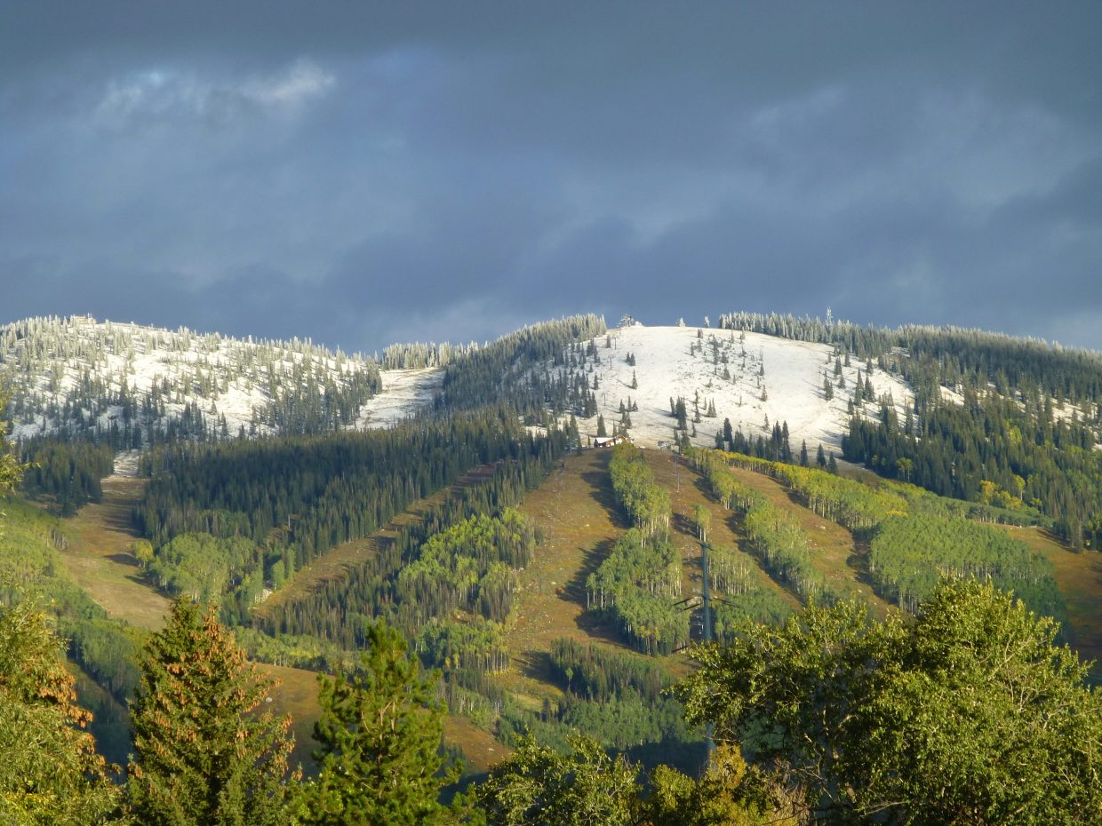 Snowfall in Steamboat. Submitted by: Gail Hanley